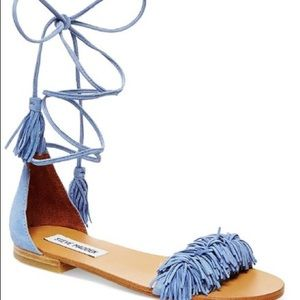 STEVE MADDEN Sweety Lace-Up Flat Sandals